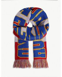 House of Holland - Stripe 'house Of F***ing Holland' Scarf - Lyst