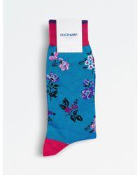 Duchamp - Sparse Floral Socks - Lyst