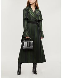ADEAM - Striped Crepe Trench Coat - Lyst