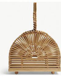 Cult Gaia - Natural Tan Brown Dome Bamboo Clutch Bag - Lyst