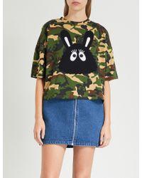 Mini Cream - Bunny-motif Cotton-jersey T-shirt - Lyst