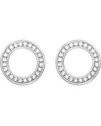 Thomas Sabo - Circle Sterling Silver And Zirconia Earrings - Lyst