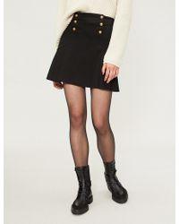 Pinko - Torcia Pleated Woven Skirt - Lyst