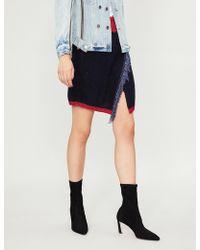 Pinko - Aconito Fringe-trimmed Knitted Mini Skirt - Lyst