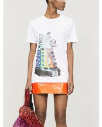 Fyodor Golan - Rainbow Dalek-print Cotton-blend T-shirt - Lyst