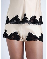 Nk Imode - Morgan Stretch-lace And Silk-satin Pyjama Shorts - Lyst