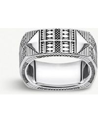 Thomas Sabo - Engraved Silver Ring - Lyst
