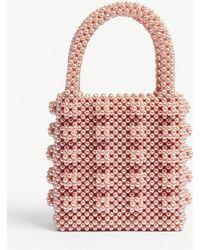Shrimps - Pink Antonia Beaded Bag - Lyst 08fd9bb196fb6
