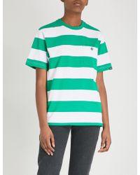 Aape - Striped Cotton-jersey T-shirt - Lyst