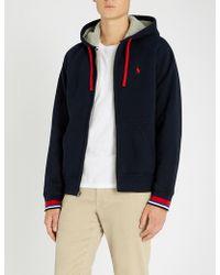 Polo Ralph Lauren - Contrast-trim Sherpa-lined Cotton Hoody - Lyst