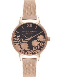 Olivia Burton - Ob16mv57 Lace Detail Rose Gold-plated Watch - Lyst