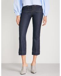 Khaite - Raquel Cropped Flared Mid-rise Jeans - Lyst