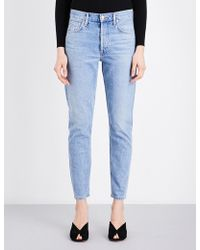 Agolde - Jamie Straight Cropped High-rise Jeans - Lyst