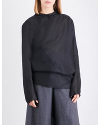 Moohong - Draped Silk Top - Lyst
