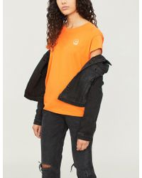 Cheap Monday - Logo-print Cotton-jersey T-shirt - Lyst
