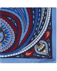 Turnbull & Asser - Paisley-circle Silk Pocket Square - Lyst