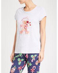 Peter Alexander - Daggy Gingerbread Cotton-jersey Pyjama T-shirt - Lyst