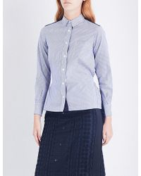 Sacai - Lace-reverse Poplin Shirt - Lyst
