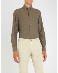 Corneliani - Regular-fit Cotton-twill Shirt - Lyst