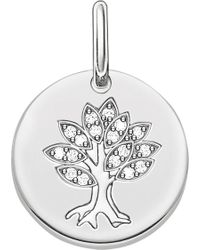 Thomas Sabo - Tree Of Life Sterling Silver Pendant - Lyst