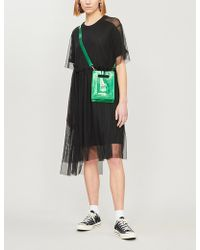 Izzue - Jersey And Mesh Short Sleeved Midi Dress - Lyst