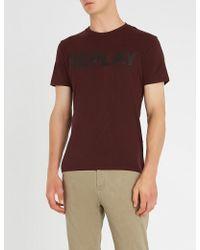 Replay - Logo-print Cotton-blend T-shirt - Lyst
