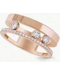Messika - Move Romane 18ct Rose-gold And Diamond Ring - Lyst