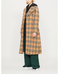 Burberry - Aldermoore Checked Wool Coat - Lyst
