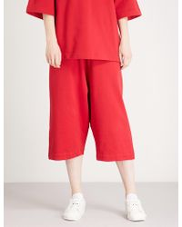 Y-3 - Striped-detail Slouchy Cotton-jersey Shorts - Lyst