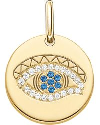 Thomas Sabo - Eye Of Horus 18ct Yellow Gold Plated Sterling Silver Pendant - Lyst