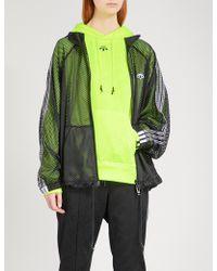 Alexander Wang - 3-stripes-detail Sports Mesh Jacket - Lyst