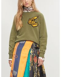 Vivienne Westwood Anglomania - Orb Sword-patch Cotton-jersey Sweatshirt - Lyst