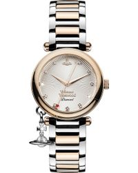 Vivienne Westwood - Vv006slrs Time Machine Stainless Steel And Diamond Watch - Lyst