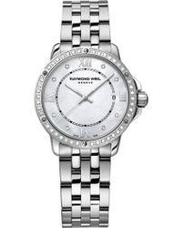 Raymond Weil - 5391-sts-00995 Tango Diamond Stainless Steel Watch - Lyst