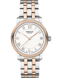 Montblanc - 114369 Tradition Stainless Steel And Red Gold-plated Watch - Lyst