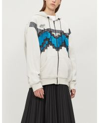 Maison Margiela - Lace-panel Cotton-jersey Hoody - Lyst