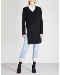 Mo&co. - Side-slit Wool Jumper - Lyst