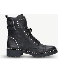 Sam Edelman - Jennifer Combat Boots In Black Calfskin - Lyst