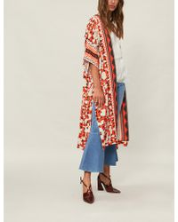 Temperley London - Odyssey Crepe-satin Kimono - Lyst
