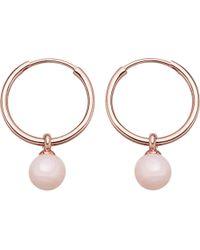 Astley Clarke - Vera Rose-gold Vermeil & Pink Opal Drop Hoop Earrings - Lyst