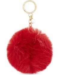MICHAEL Michael Kors - Fluffy Faux-fur Pompom Charm - Lyst