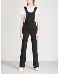 Ba&sh - Dorotea Flared Stretch-denim Dungarees - Lyst