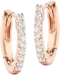 The Alkemistry - 14ct Rose Gold And Diamond Earrings - Lyst