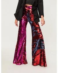 Halpern - Sequined Tulle Flared Trousers - Lyst