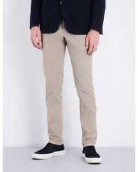 Slowear - Garment-dyed Slim-fit Stretch-cotton Trousers - Lyst