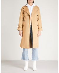Mo&co. - Double-breasted Cotton-twill Trench Coat - Lyst