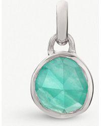 Monica Vinader - Siren Mini Sterling Silver And Amazonite Bezel Pendant - Lyst