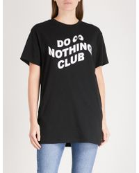Mini Cream - Logo-print Cotton-jersey T-shirt - Lyst