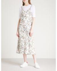 Rag & Bone - Astrid Floral-print Woven Slip Dress - Lyst
