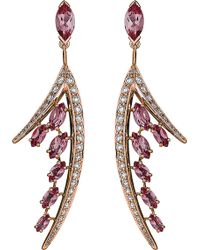 Shaun Leane - Aerial 18ct Rose Gold And Diamond Earrings - Lyst